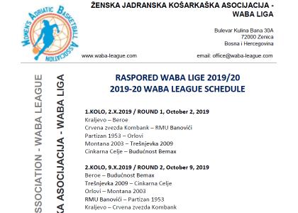 waba schedule 2019-20